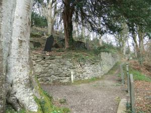 One section of the churchyard, but you need to see it to understand,