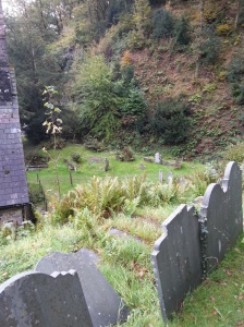 Llandre hillside grave 2